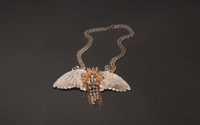 Bird of Paradise statement necklace by Emerald Faerie.