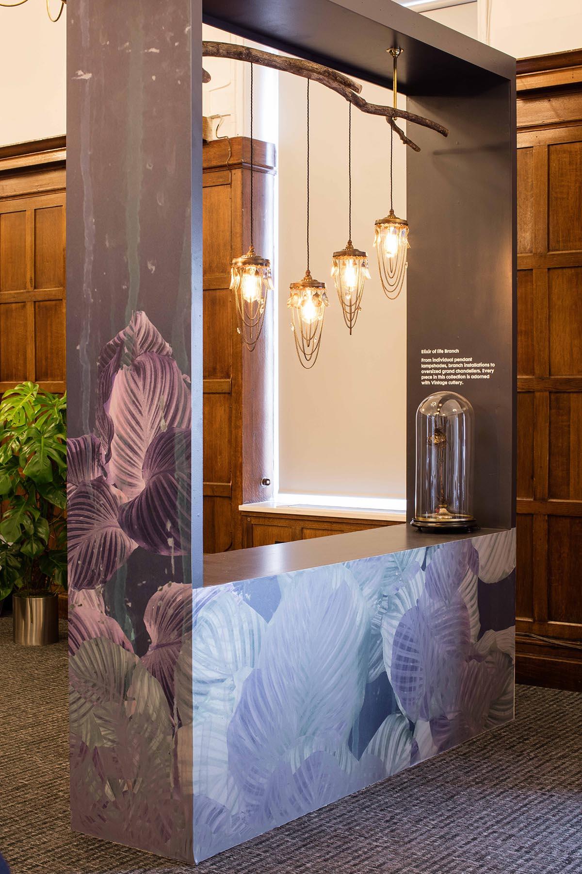 Lighting brand Emerald Faerie inside the VIP & Press room at 100% Design